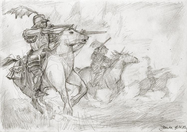 Warhammer Empire Pistoliers by JanBoruta