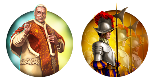 Civilization 5 Icons: The Papal States by JanBoruta