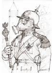 Steampunk Gas Officer
