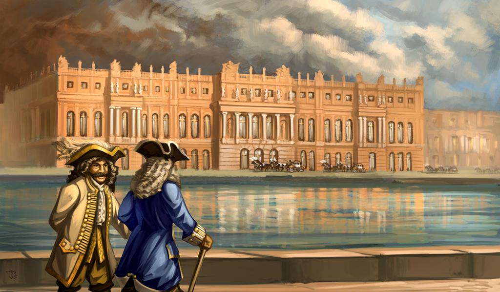 Versailles Sunset by JanBoruta