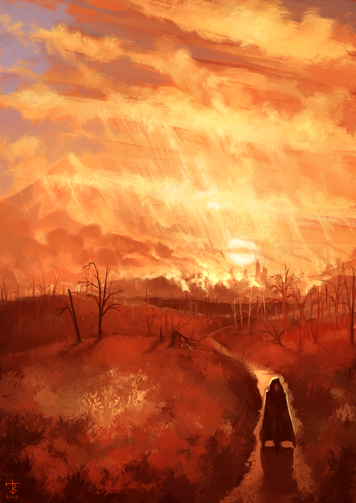 Rain of Fire by JanBoruta