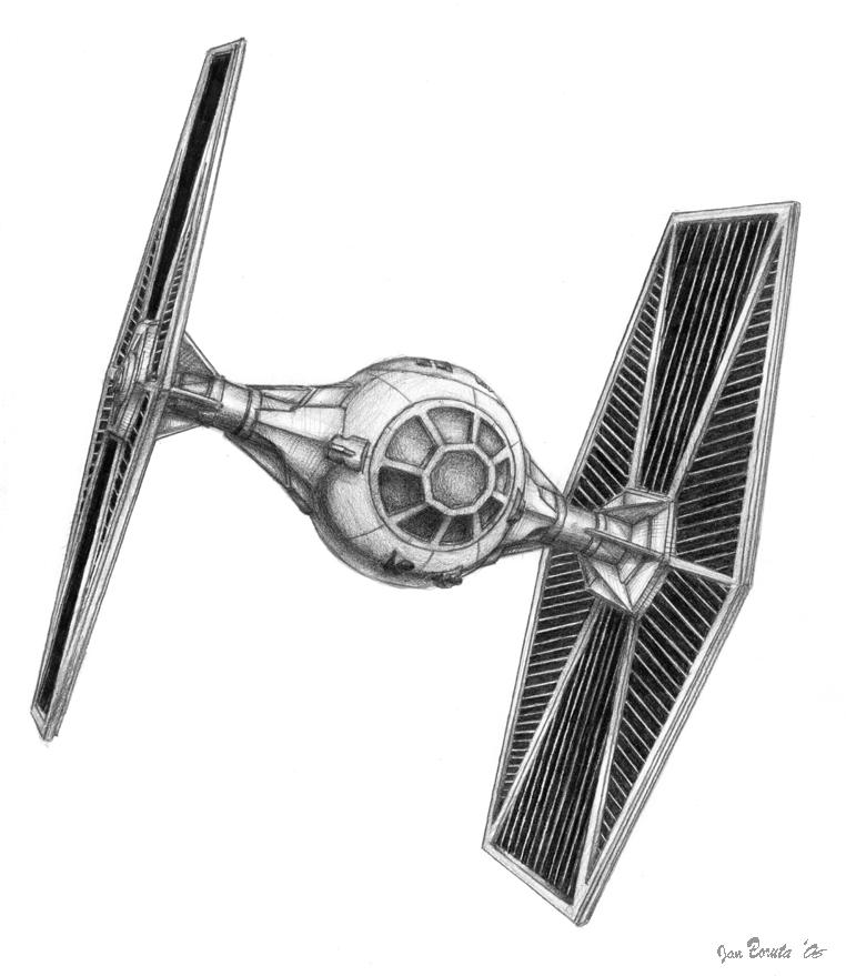 Imperial Tie Fighter Drawing TIE Fighter by JanBoru...
