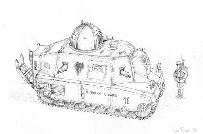 WW1 medium tank concept 01 by JanBoruta on DeviantArt