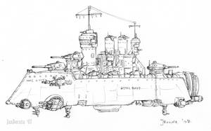 Thames-class dreadnought by JanBoruta
