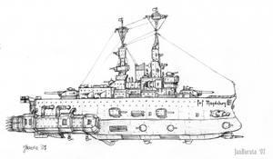 Ruhr-class battleship by JanBoruta