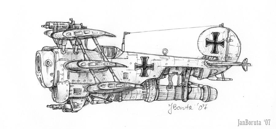 Fokker K.3 starfighter by JanBoruta