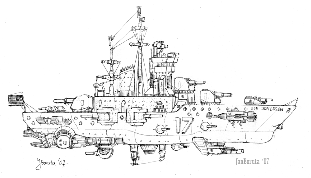 Montana-class cruiser by JanBoruta