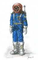 Russian space sailor by JanBoruta
