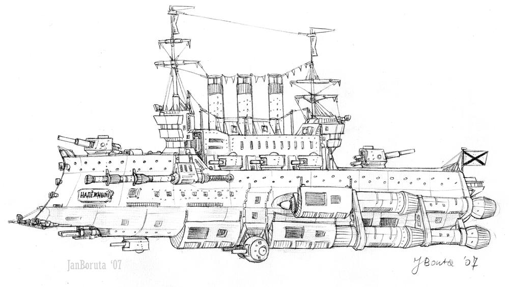 Ladoga-class cruiser by JanBoruta