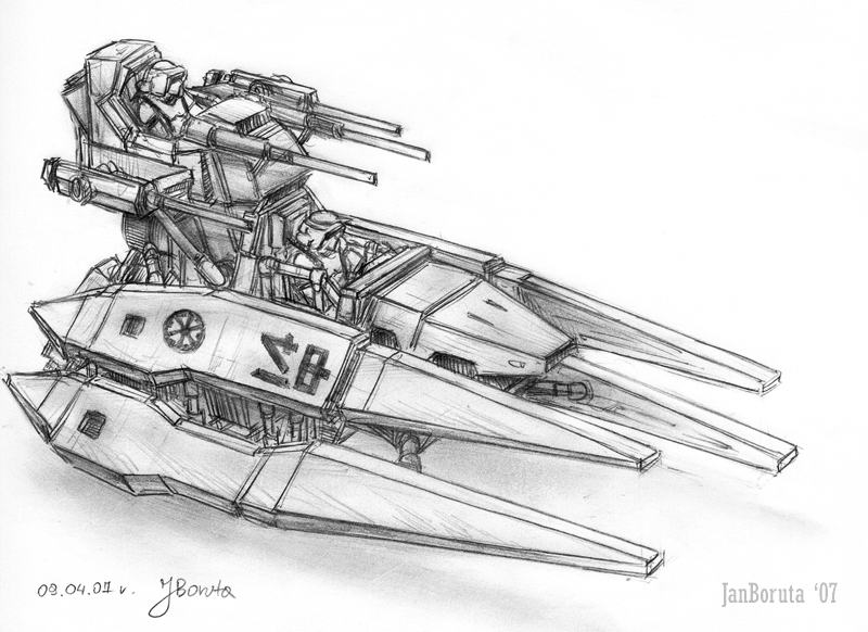 Patrol speeder by JanBoruta