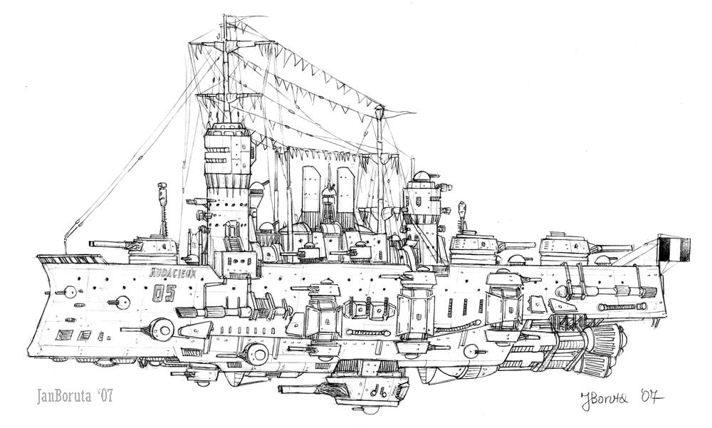 Bienfaiteur-class battleship by JanBoruta