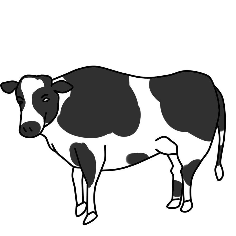 Cow Clipart by SA-JIN-GI on DeviantArt