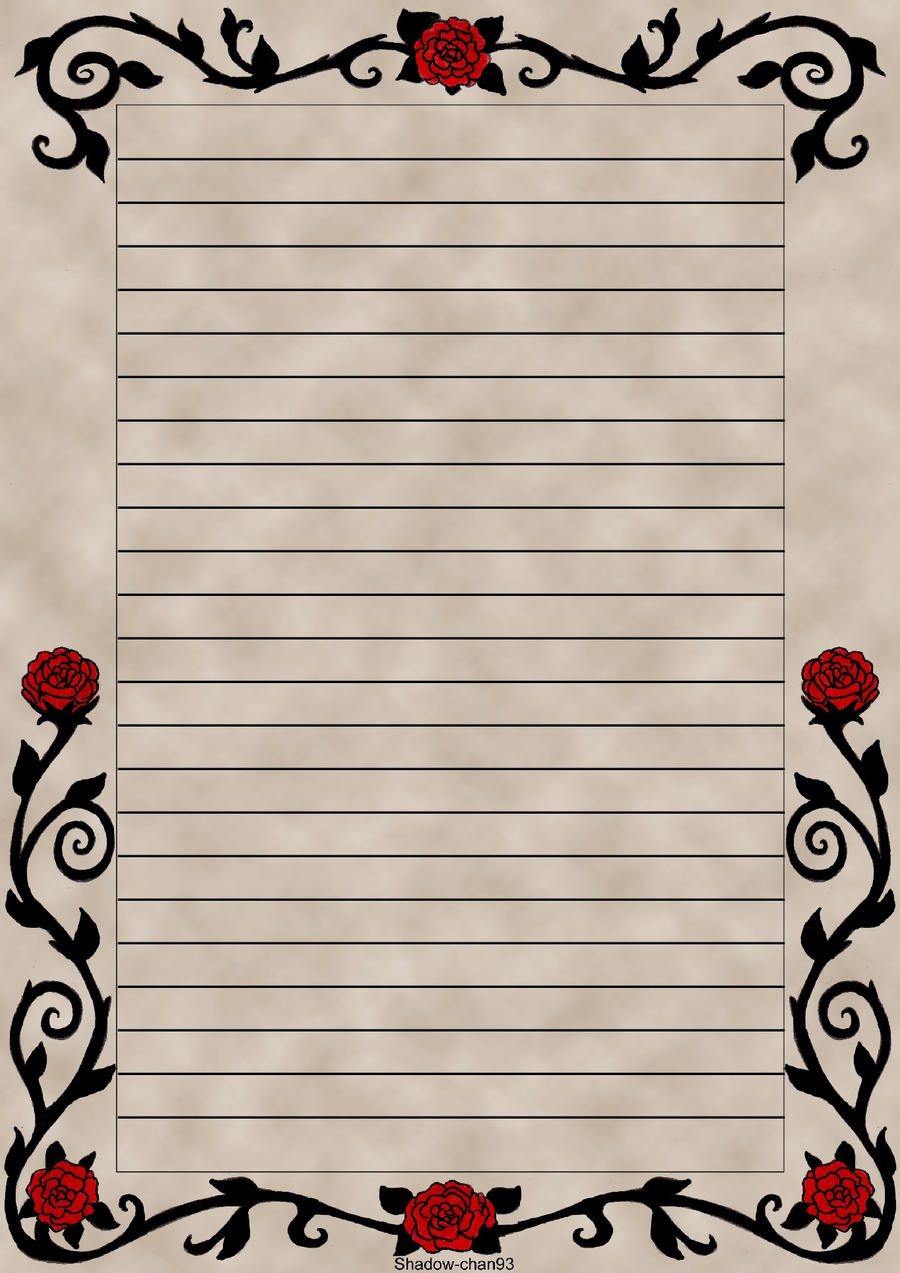 Letter Paper Red Rose By Shadow Chan93 On Deviantart