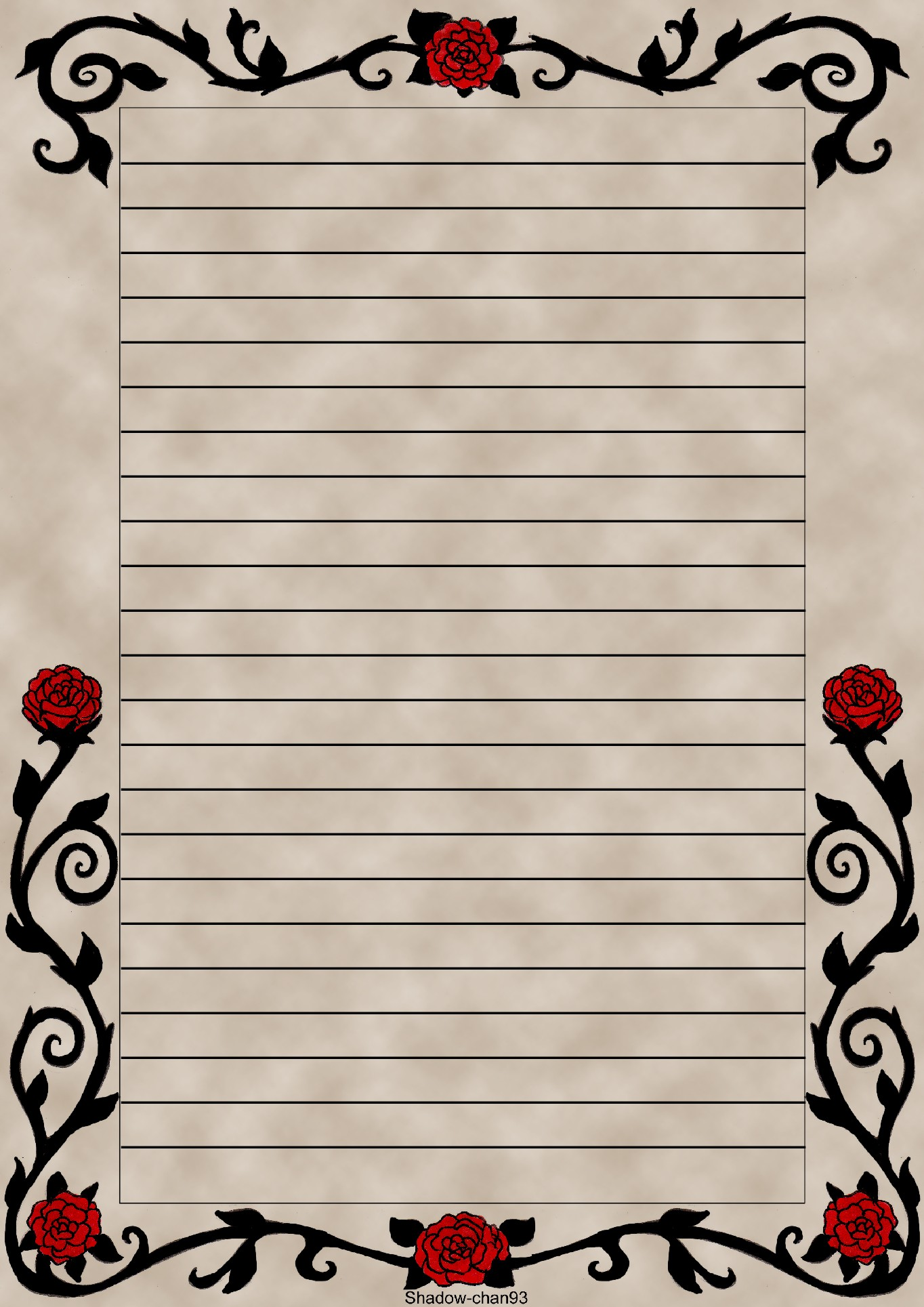 letter-size paper
