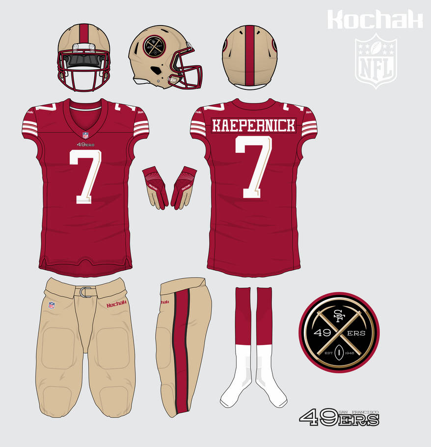 size 40 f08a4 d85e8 San Francisco 49ers home kit by kochak on DeviantArt
