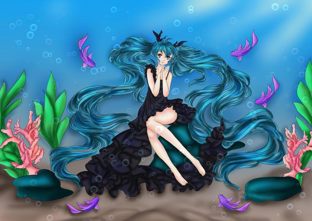 miku hatsune deep dea girl by soniamanga