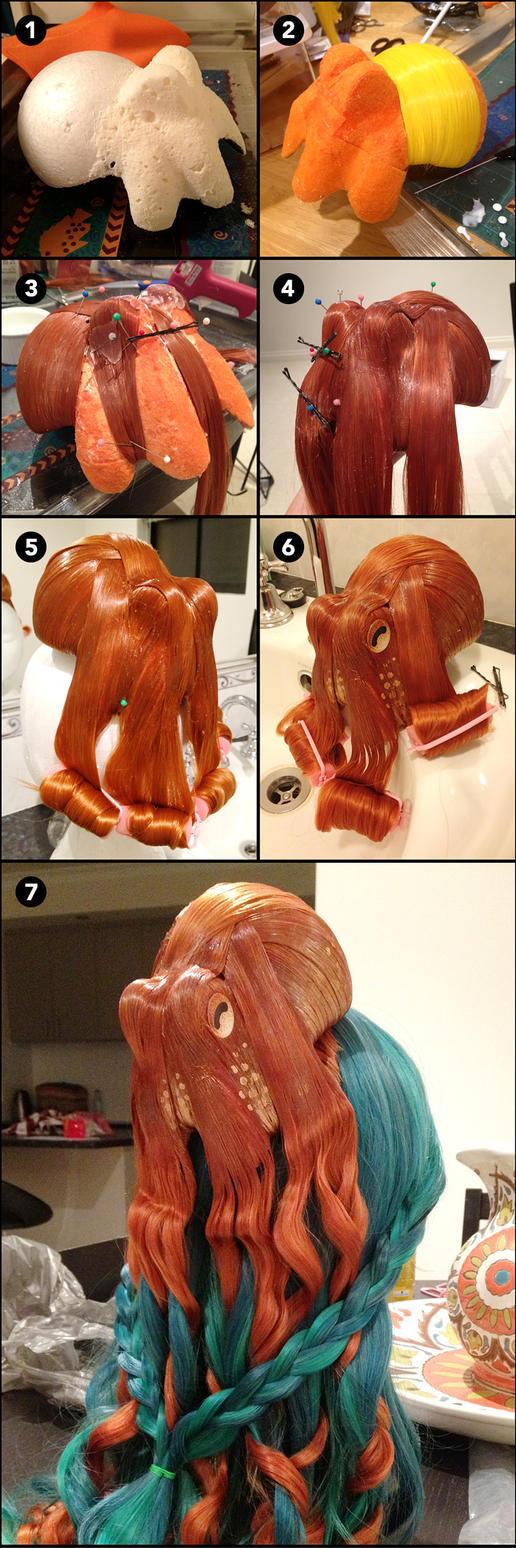 Octopus Wig WIP by deeed