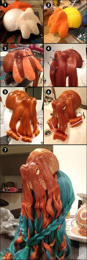 Octopus Wig WIP