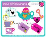 alice in wonderland teaparty clip art