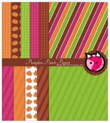 Pumpkin Patch digital papers by pinkfoxdesign