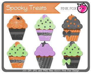 halloween cupcakes by pinkfoxdesign