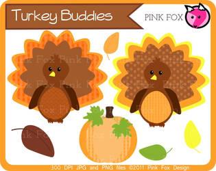 Turkey buddies by pinkfoxdesign