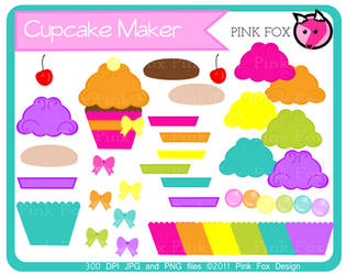 Cupcake maker clipart by pinkfoxdesign
