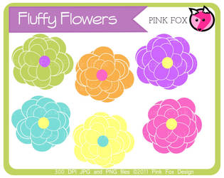 flower clipart - commercial use by pinkfoxdesign