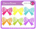 Zebra bow clipart