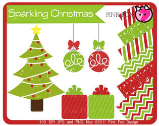 Sparkling christmas freebie by pinkfoxdesign
