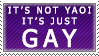 Not Yaoi, Just Gay by genkistamps