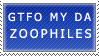 GTFO Zoophiles by genkistamps