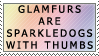 Glamfurs are Sparkledogs by genkistamps