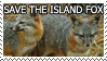 Save the Island Fox by genkistamps