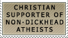 Christians for Non-Dickheads by genkistamps
