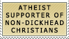 Atheists for Non-Dickheads by genkistamps