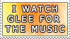 I Watch Glee for the Music by genkistamps