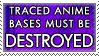 Traced Anime Bases Must Die by genkistamps