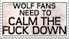 Calm Down Wolf Fans by genkistamps
