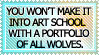 Art School Doesn't Want Wolves by genkistamps