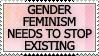 Gender Feminism Sucks by genkistamps