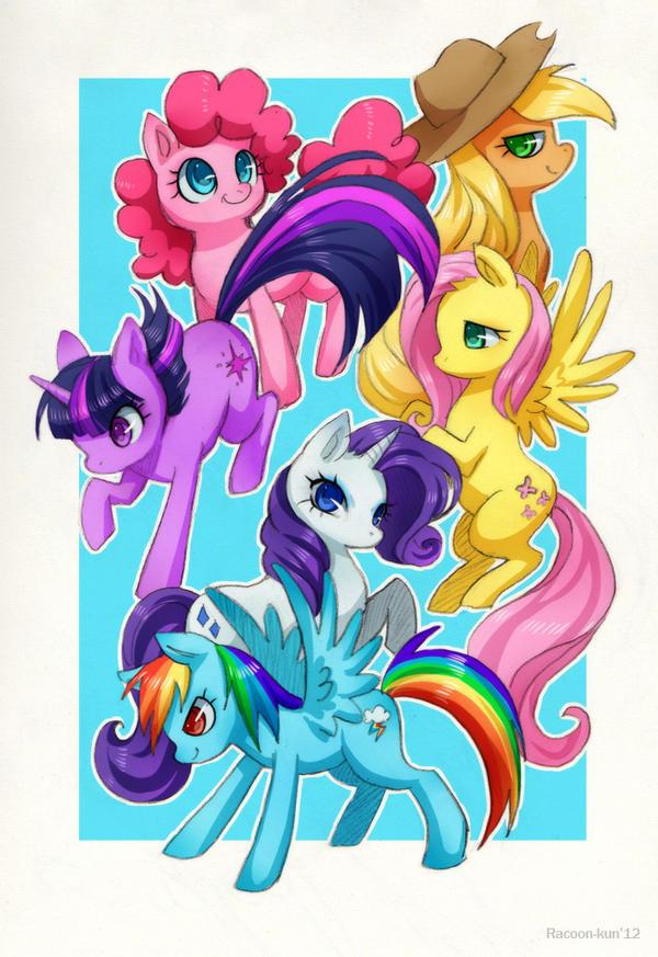Ponies by RacoonKun