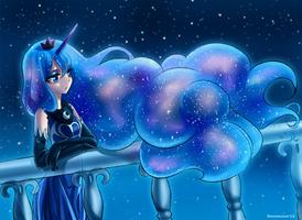 pensive Luna by RacoonKun