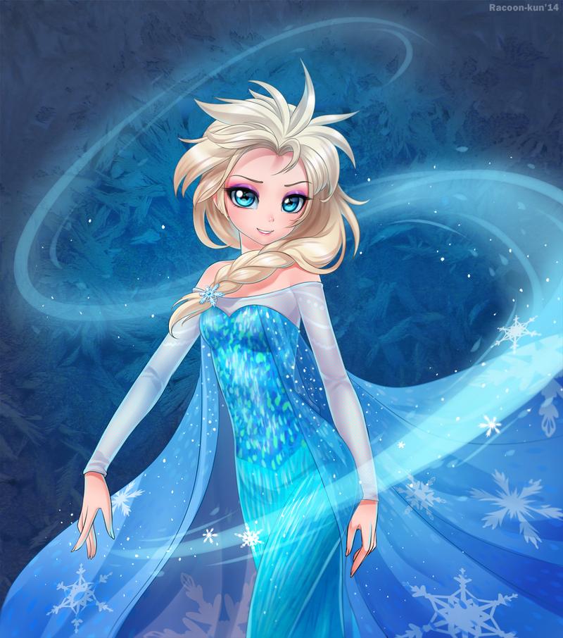 Frozen Elsa by RacoonKun
