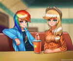 Cool cafe girls