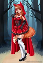 Red hood wolf by RacoonKun