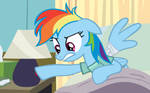 Rainbow Dash is Not Amused by Lamps