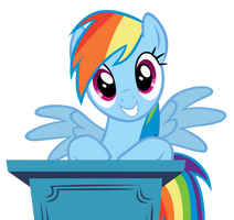Rainbow Dash - Who, Me? by MrLolcats17