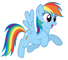 Rainbow Pounce! by MrLolcats17