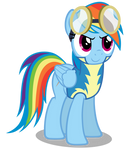 Rainbow Dash Wearing The Academy Uniform